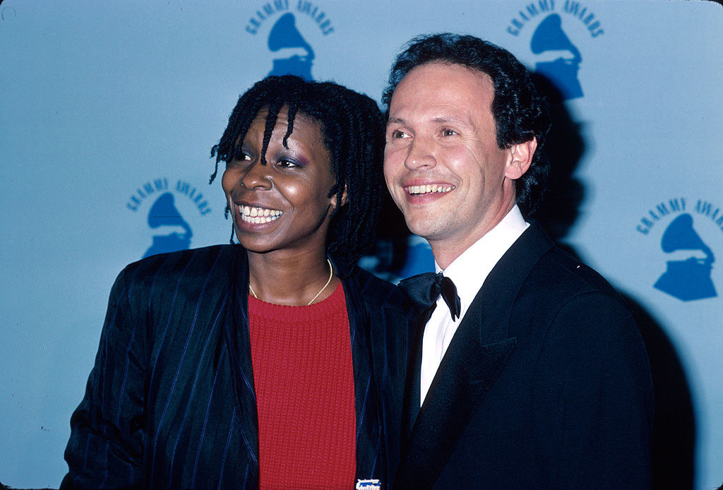 Actors Whoopi Goldberg and Billy Crystal in the Press Room at the Grammy Awards