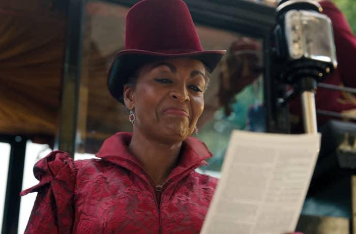"Adjoa Andoh as Lady Danbury in the show ""Bridgerton."""