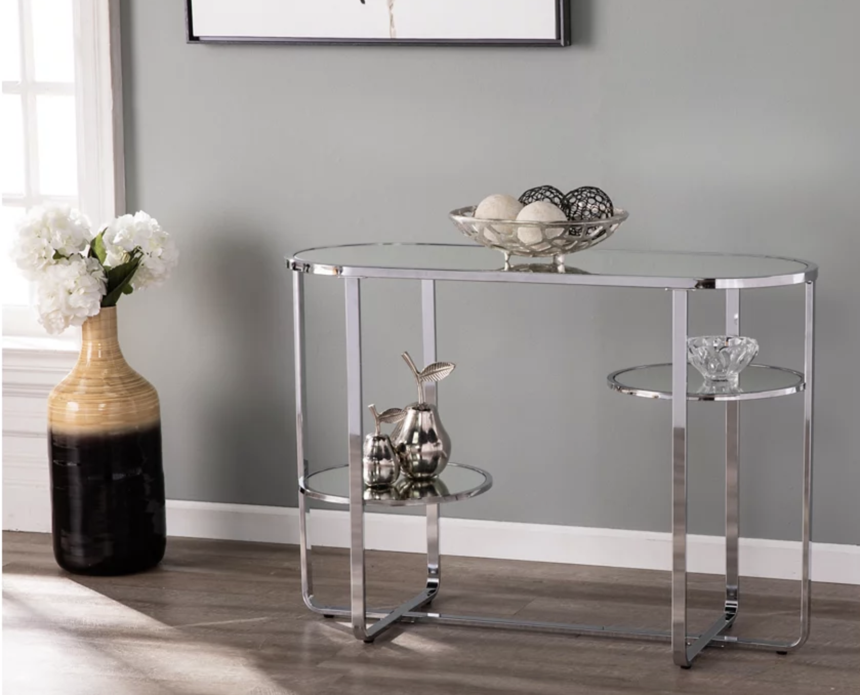 the tobye mirrored console table