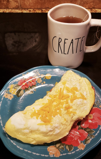 reviewer photo of a prepare omelette