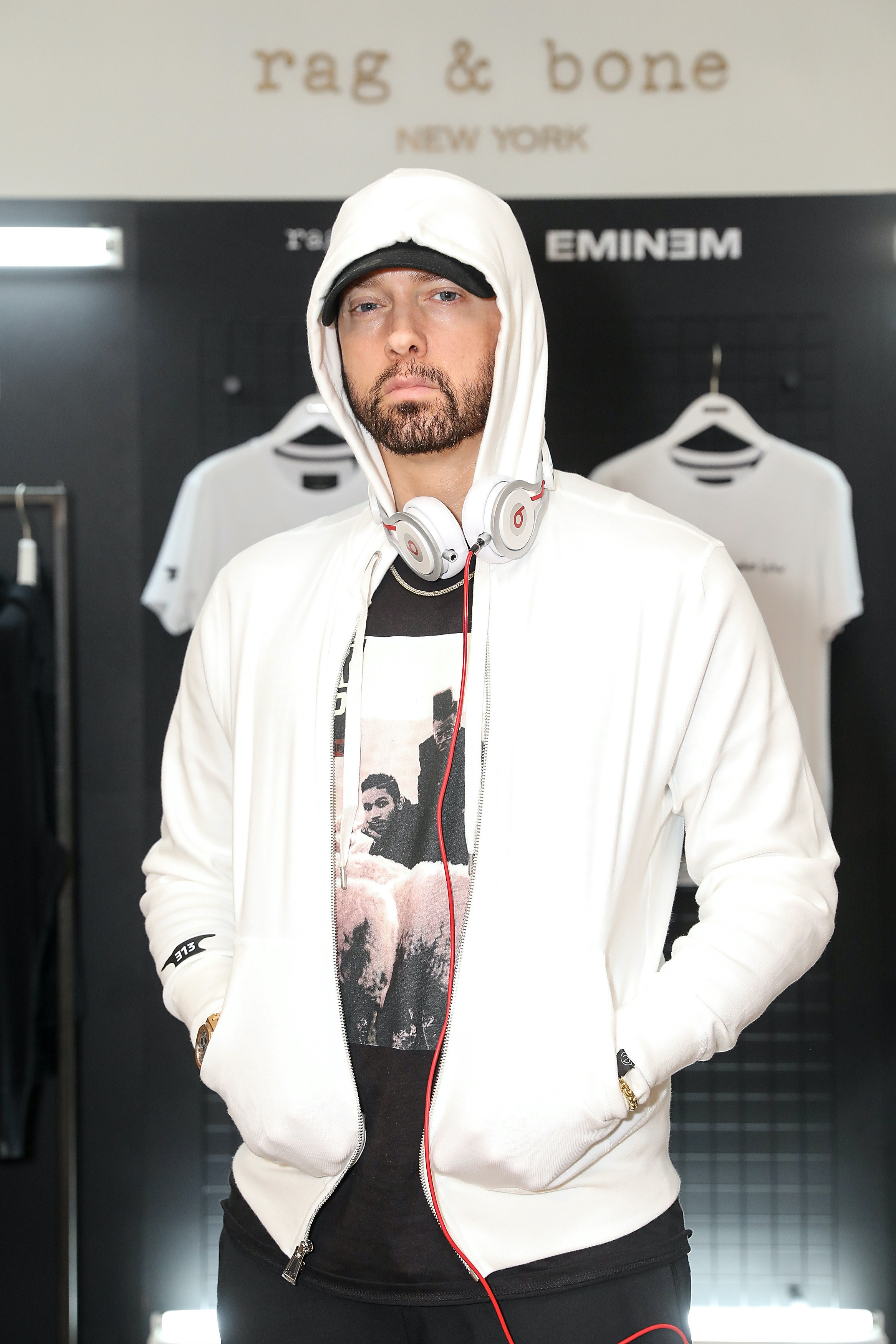 Eminem attends the rag & bone X Eminem London Pop-Up Opening on July 13, 2018 in London, England