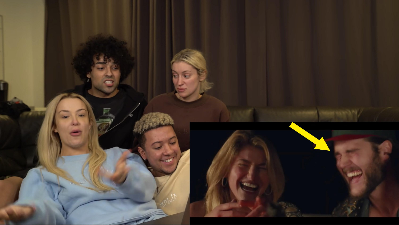 Tana, Ashly, Imari, and Ari reacting to Bella's music video