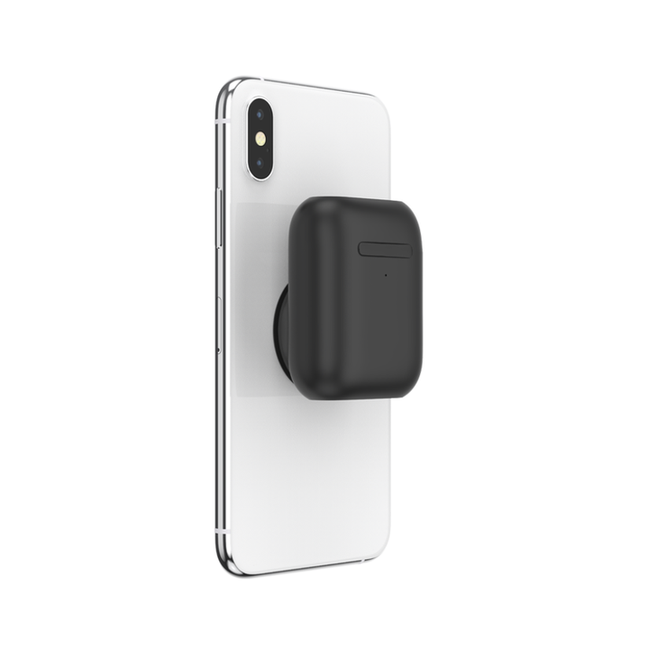 PopSockets AirPods case attached to iPhone