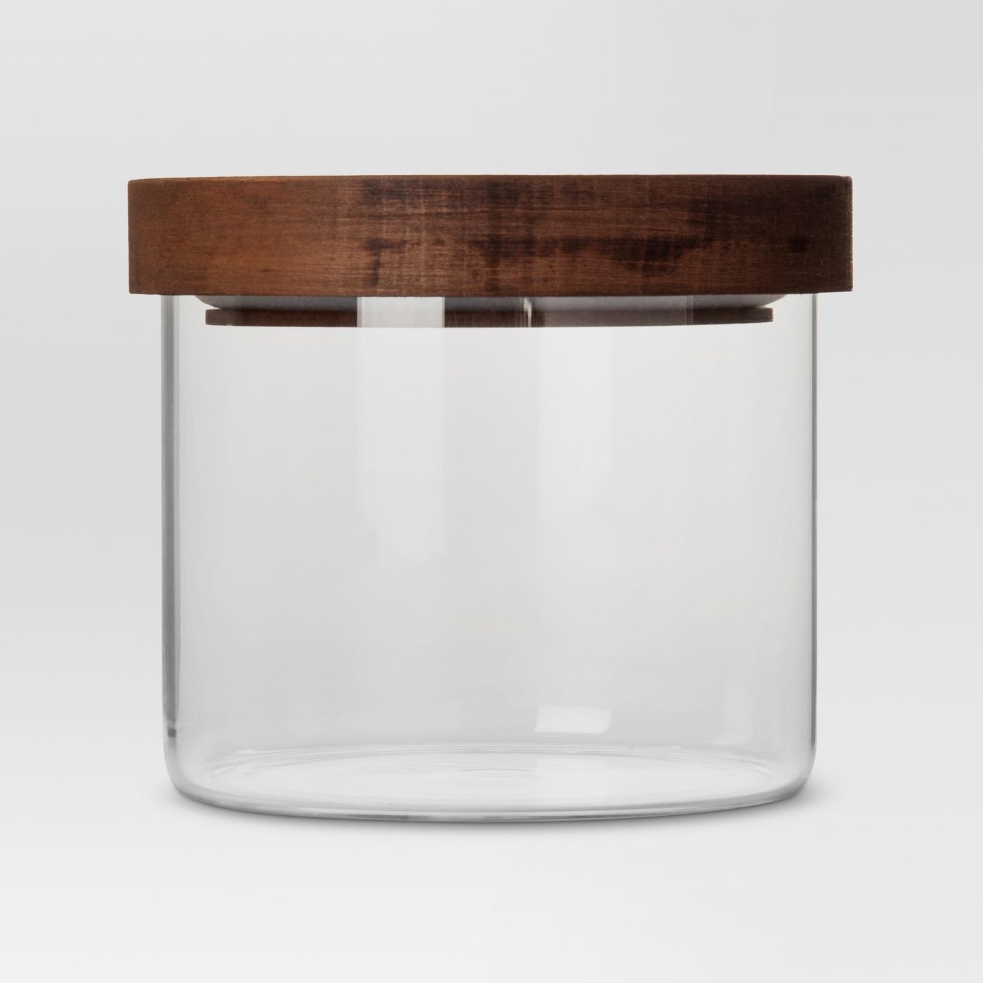 The glass storage container