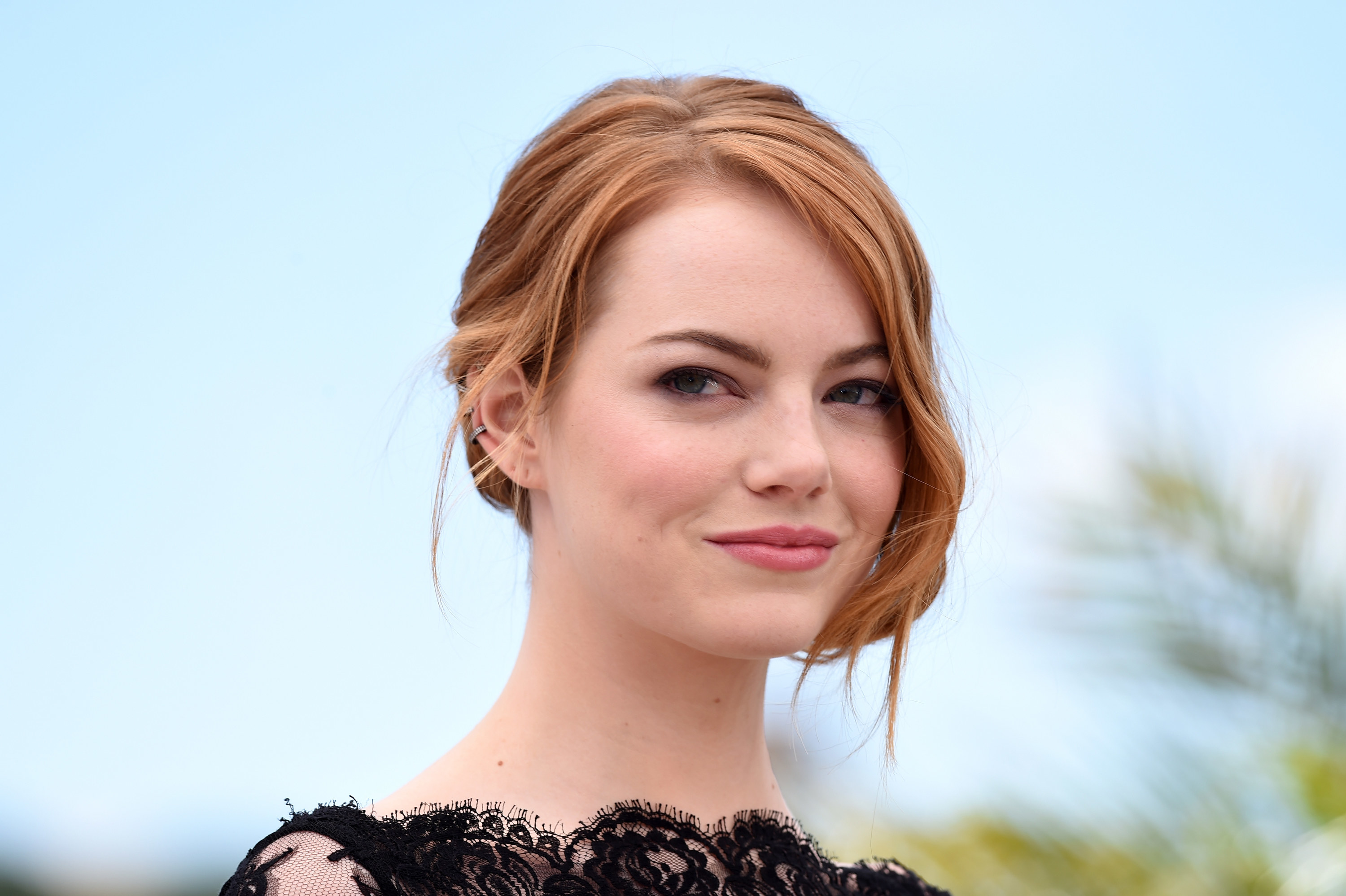 "Emma Stone attends a photocall for ""Irrational Man"" during the 68th annual Cannes Film Festival"