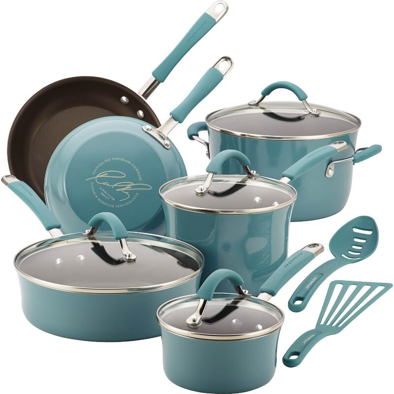 The pots and pans