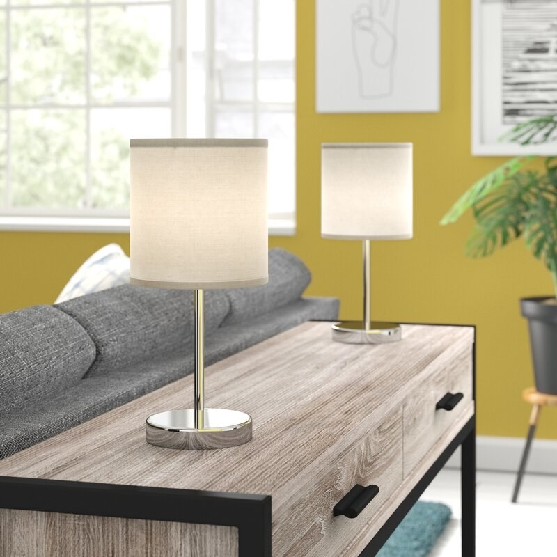 The table lamps
