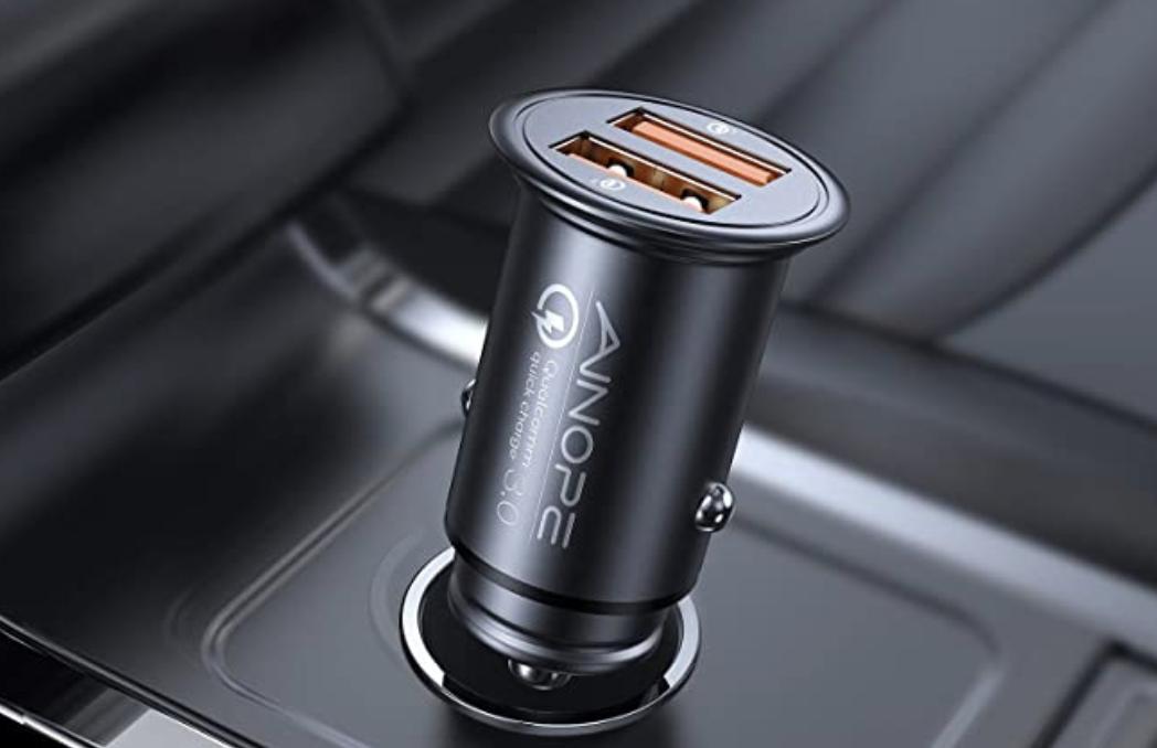 Double USB port cigarette lighter charger