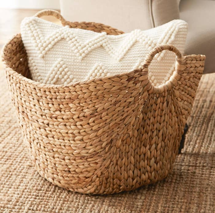 The wicker basket in brown