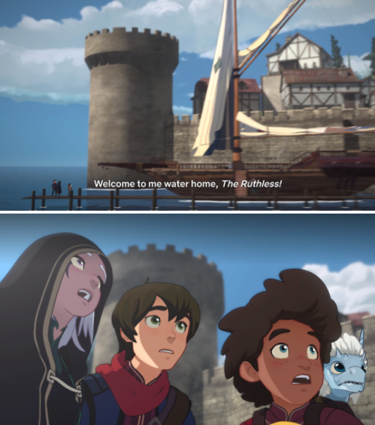 "Everyone arriving to a new boat in ""The Dragon Prince"""
