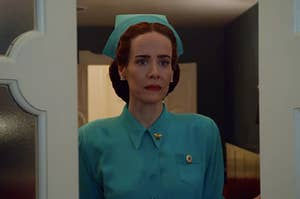 Sarah Paulson as Nurse Ratched in the ryan murphy show ratched