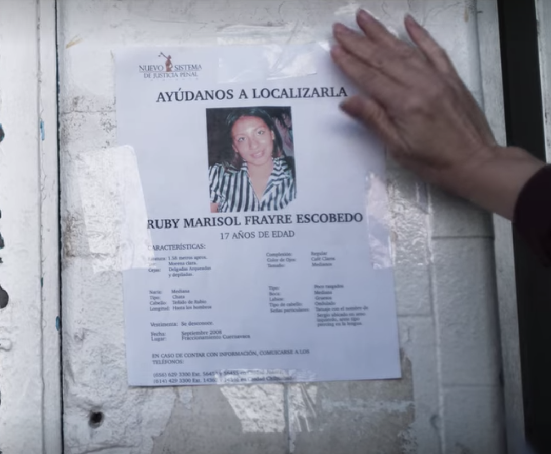 a missing poster for Ruby Marisol Frayre Escobedo