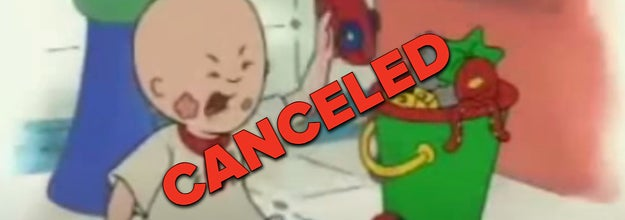 Caillou throwing a tantrum with the word