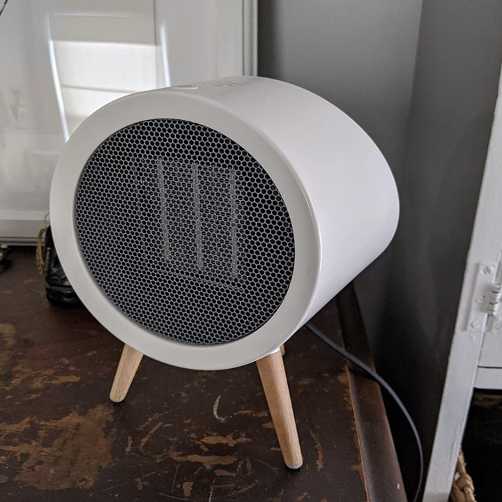 reviewer photo of the white space heater