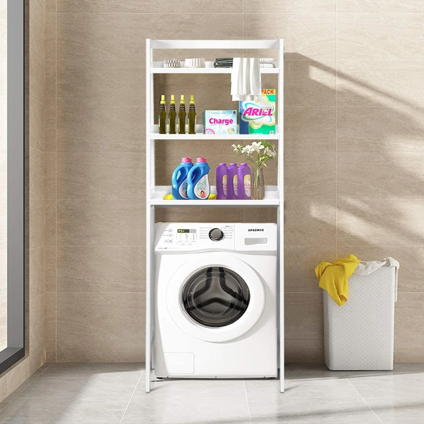 The over-the-toilet storage shelving unit in white