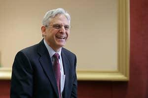Judge Merrick Garland smiles