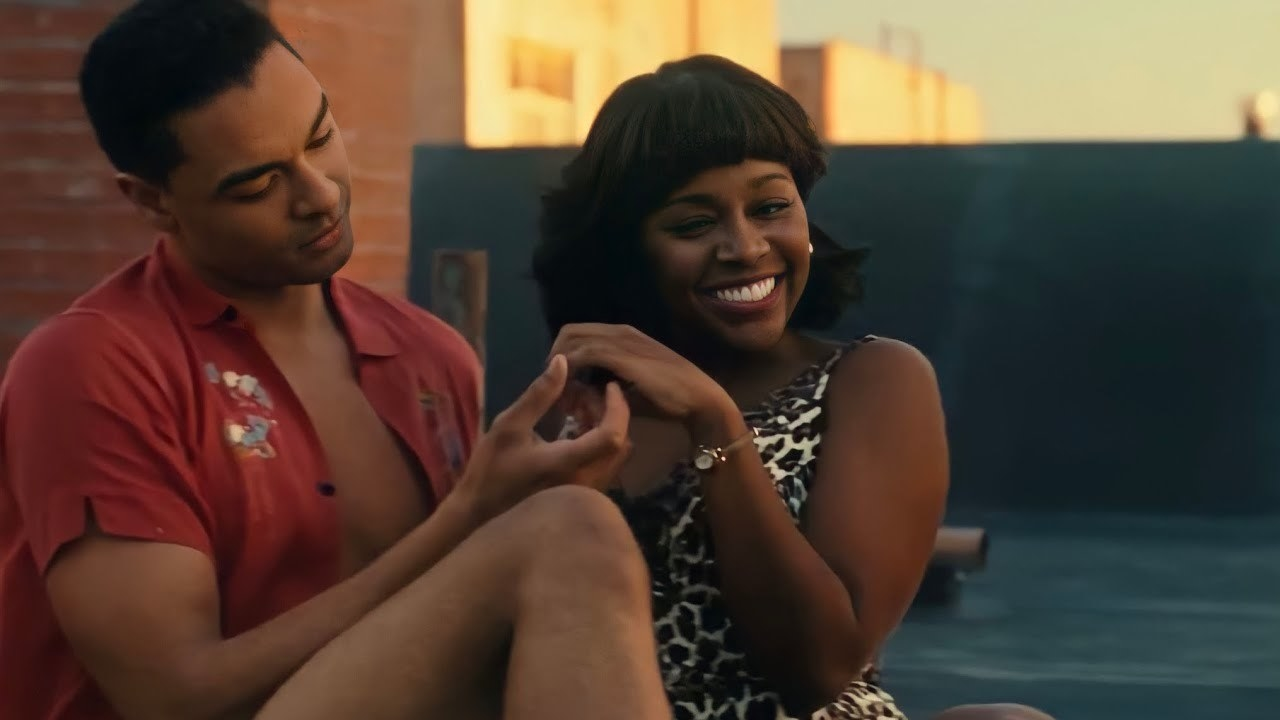 Chico canoodling with Mona on a rooftop in Harlem