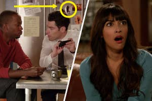 "On ""New Girl,"" there is a picture of a bear on the fridge, and Cece gasping"