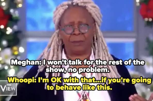 Whoopi Goldberg moderating The View
