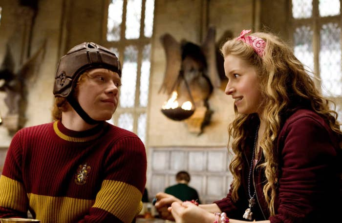 Rupert Grint and Jessie Cave in Harry Potter and the Half-Blood Prince
