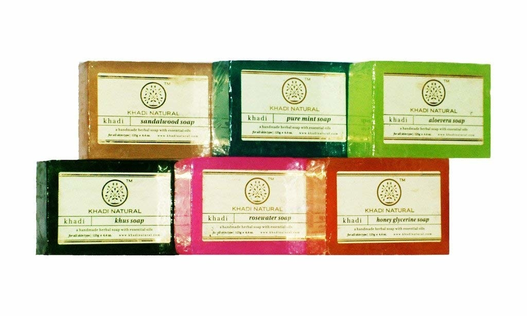 A set of 6 soaps