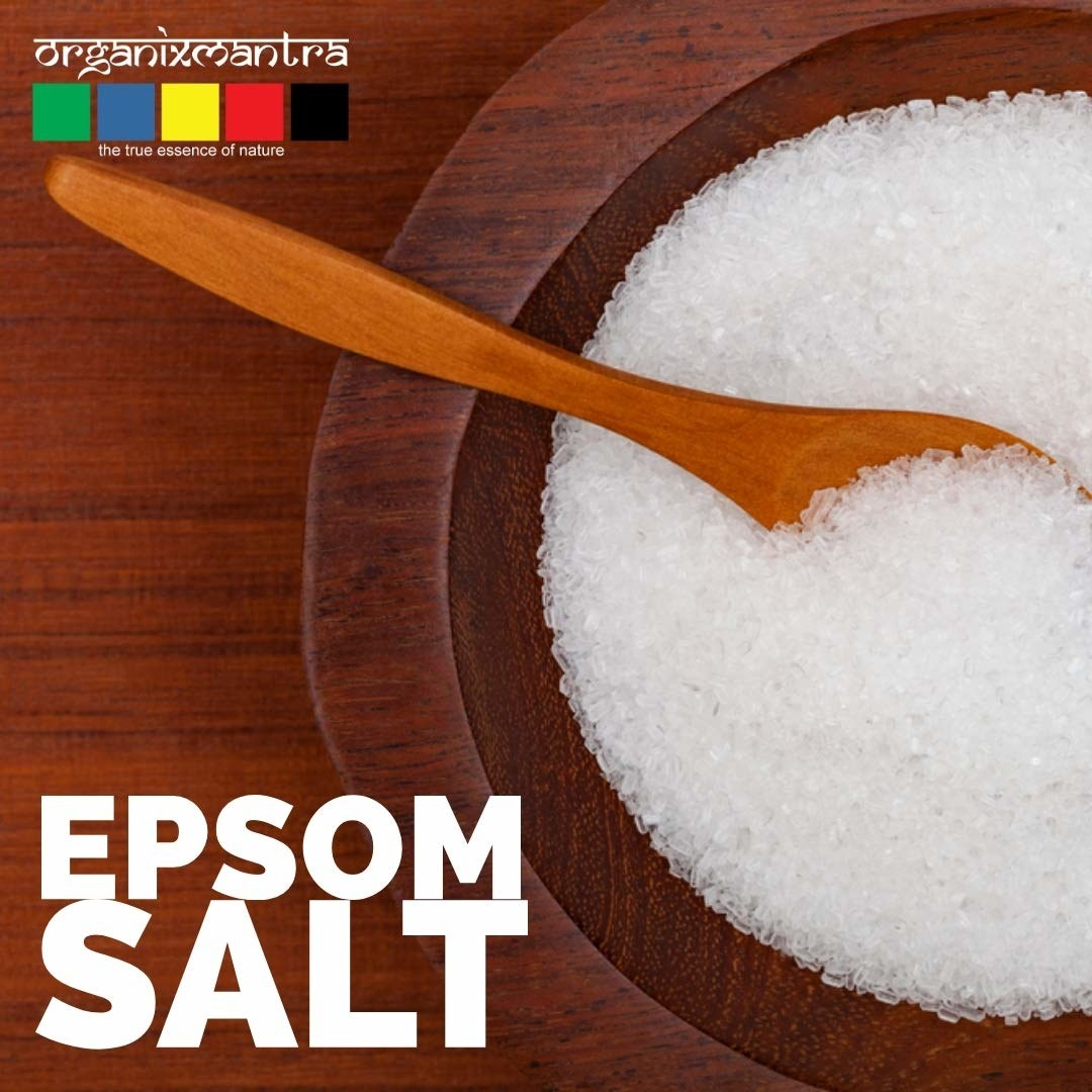 Epsom bath salt in a bowl