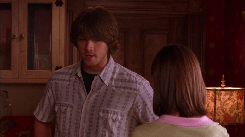 Dean with shaggy hair and weird facial hair