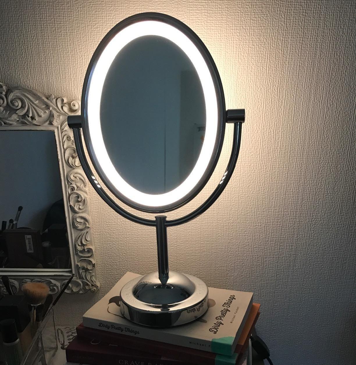 The lit mirror