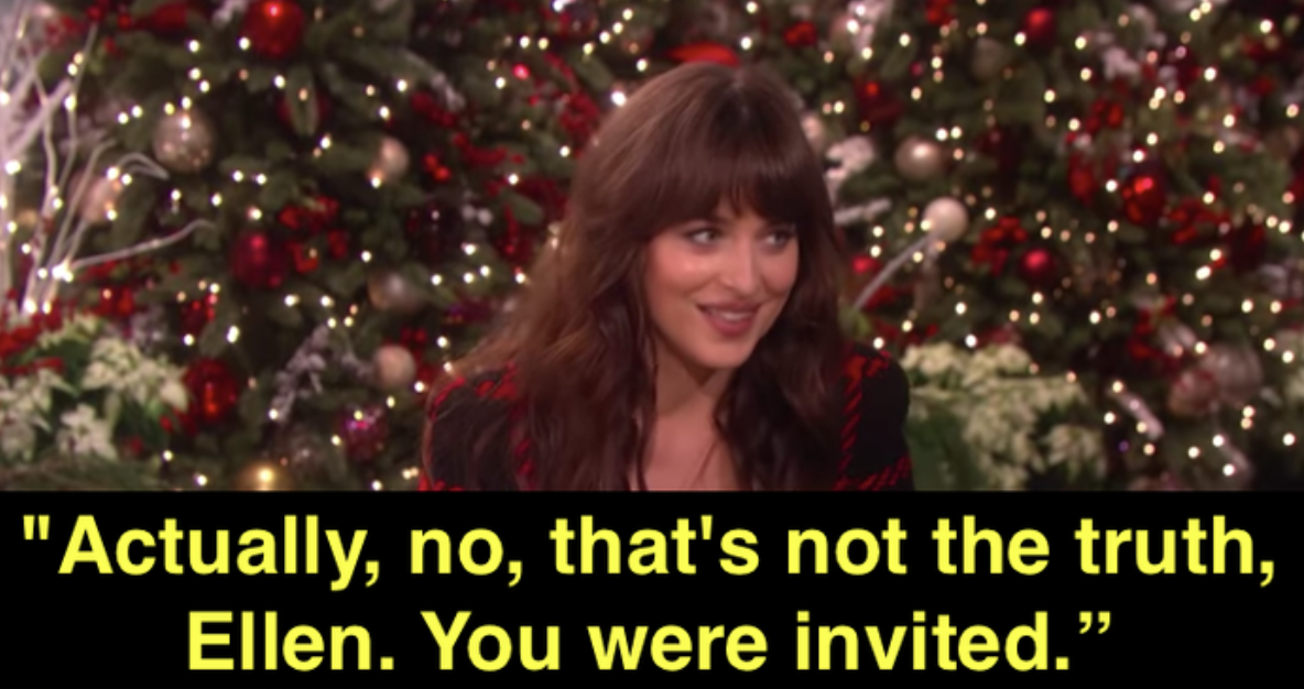 Dakota calling out Ellen for lying
