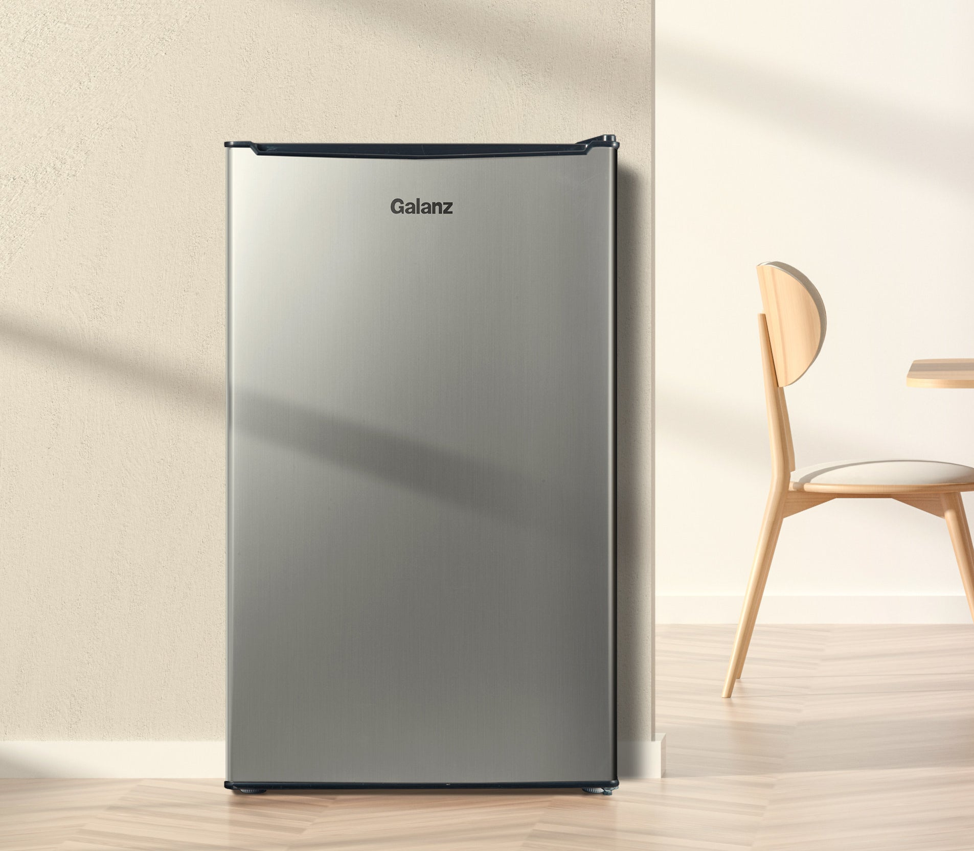 galanz stainless steel mini fridge