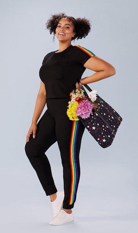 The black and rainbow set