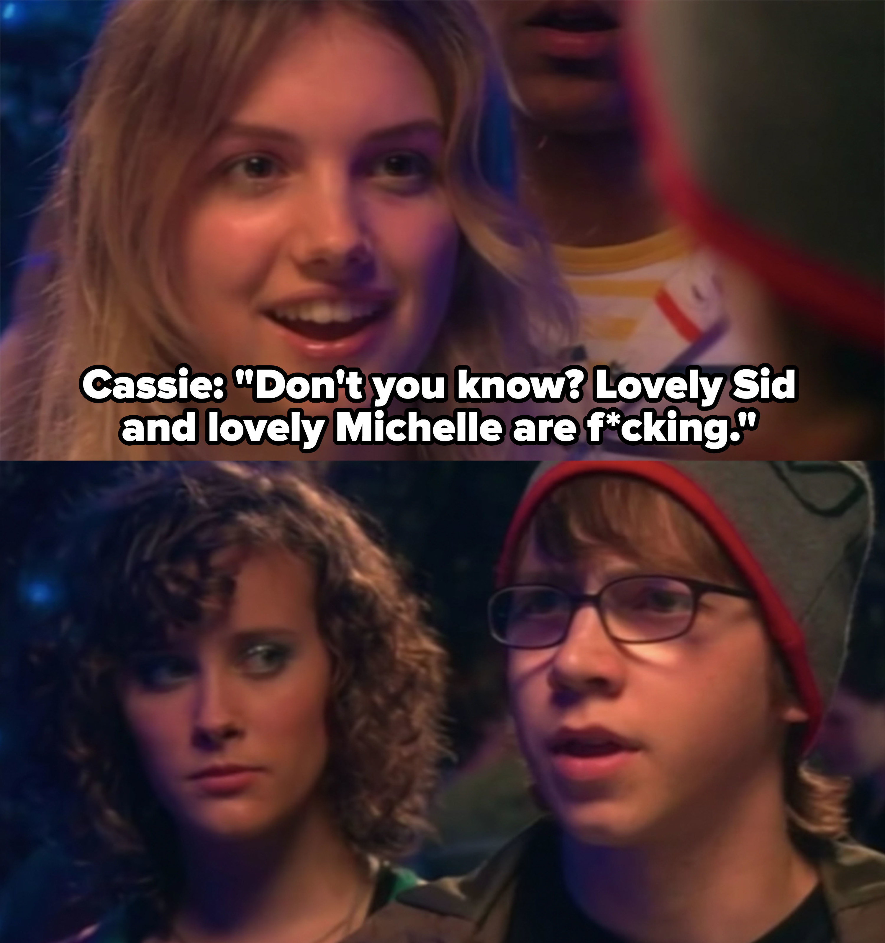 Cassie exposes Sid and Michelle's relationship