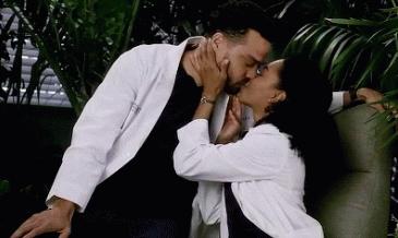 Jackson and Maggie kiss