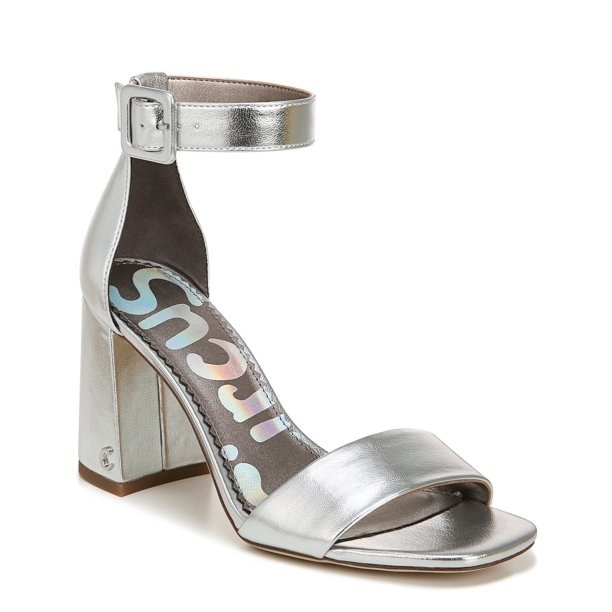 The silver heels