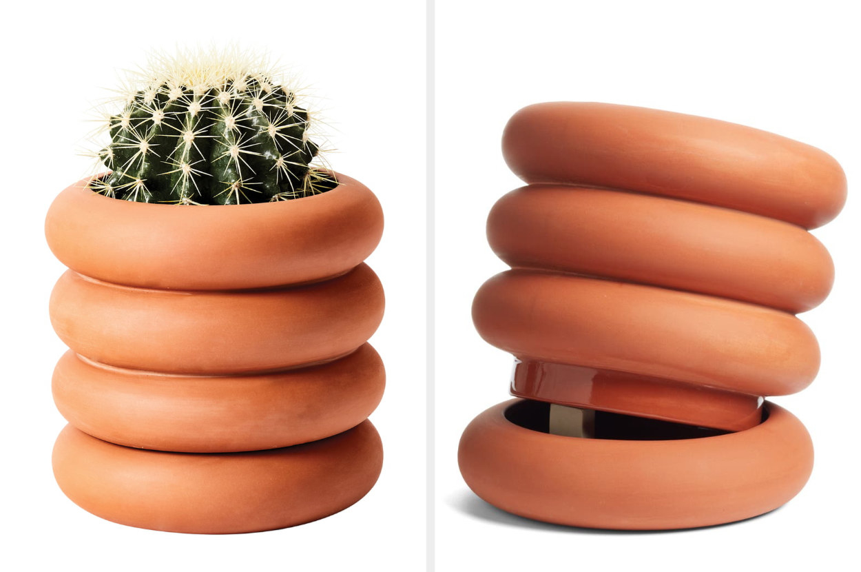 The Areaware terracotta stacking planter