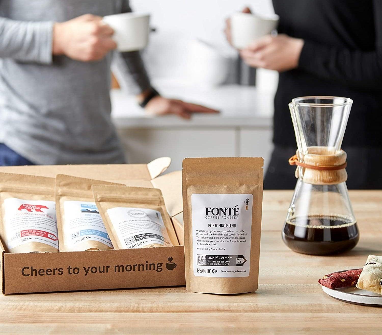 The gourmet coffee sampler