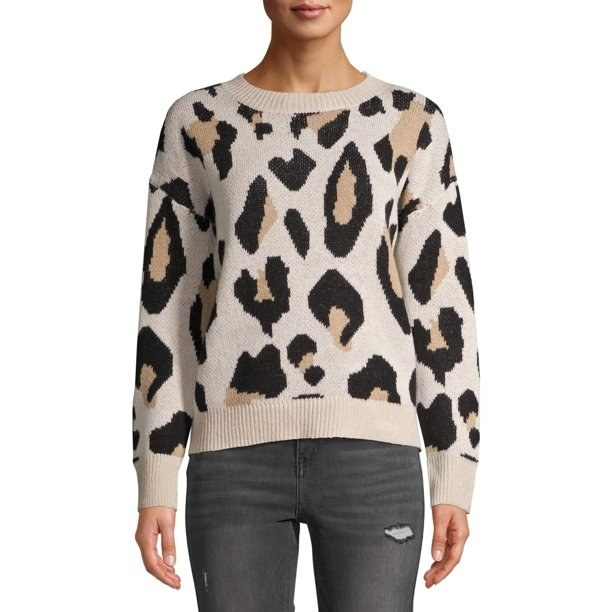 The leopard print sweater