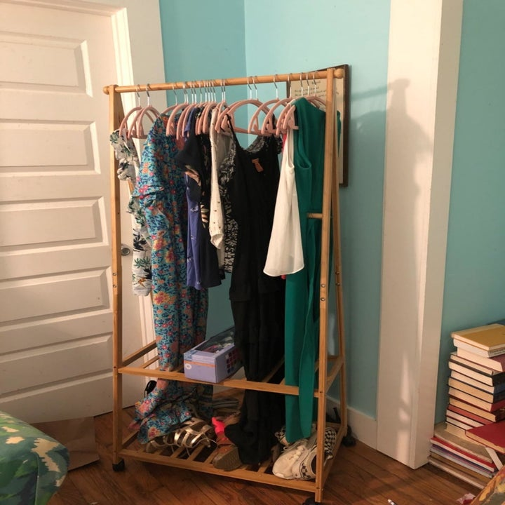 review photo of rack holding clothes