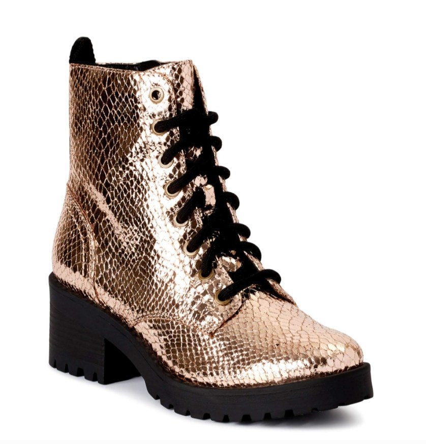 The gold boots