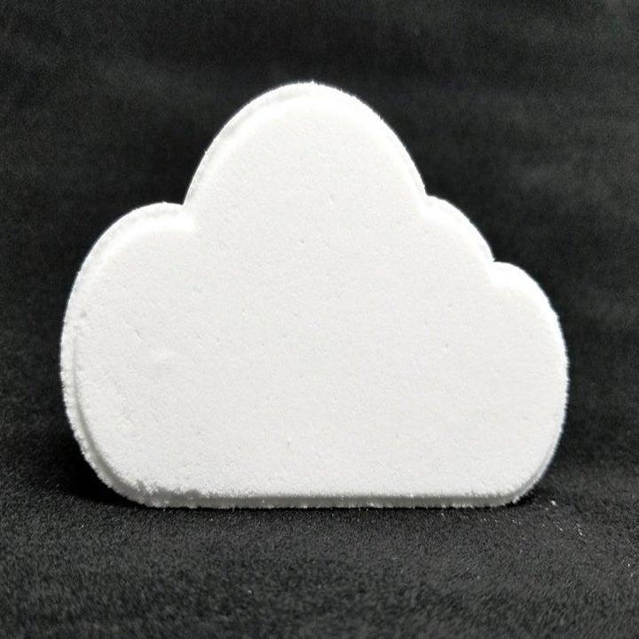 the white cloud shaped bath bomb