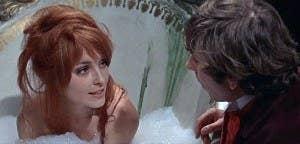 "Sharon talking to Roman Polanski in ""The Fearless Vampire Killers"""