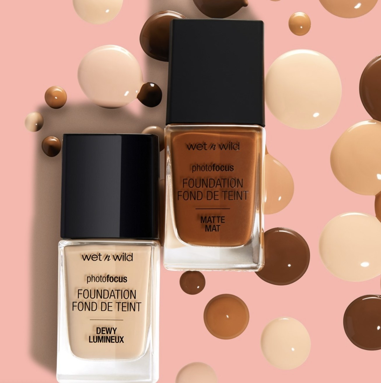 Wet n Wild photofocus foundation in dewy and matte