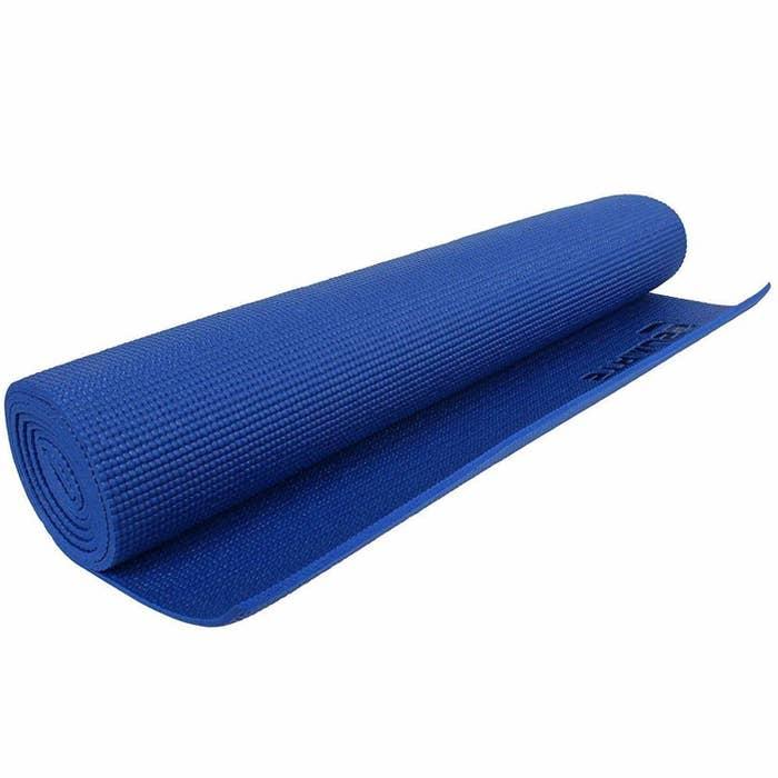 A blue yoga mat