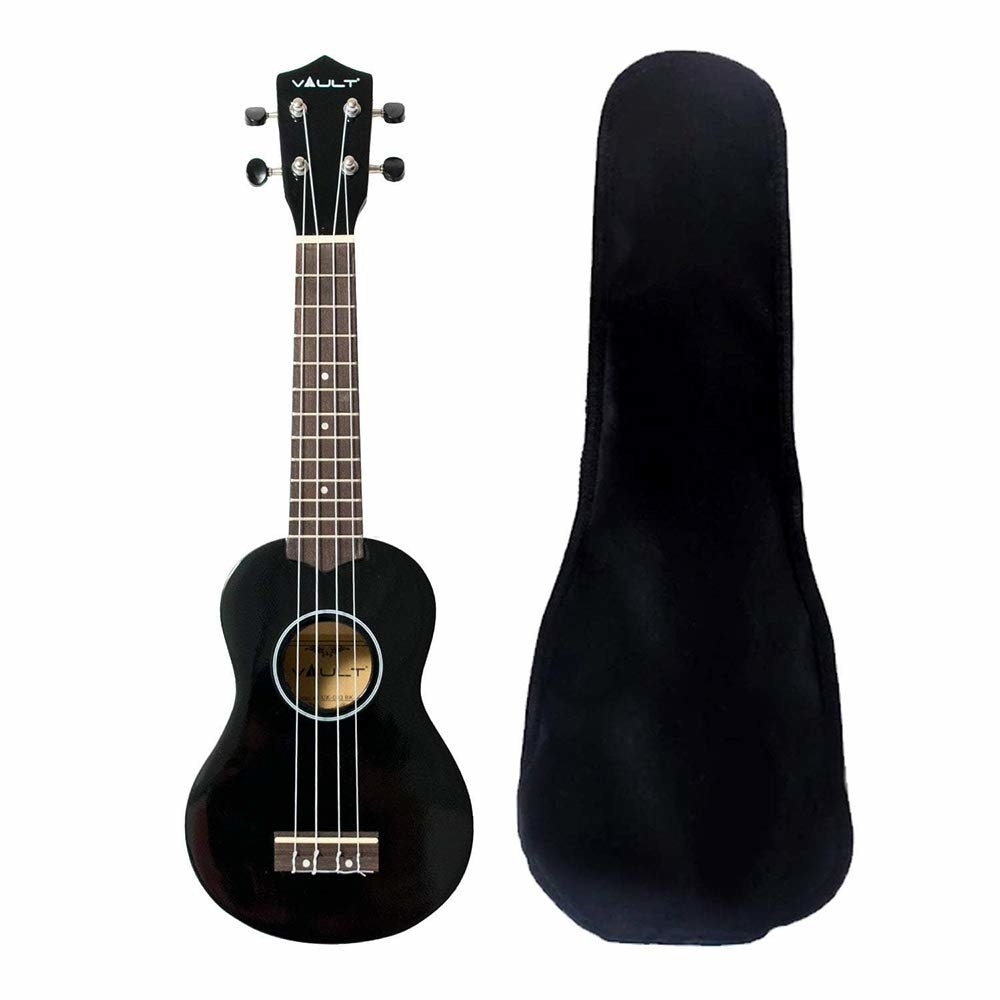 A black ukelele