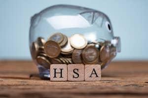 Piggy Bank labeled HSA