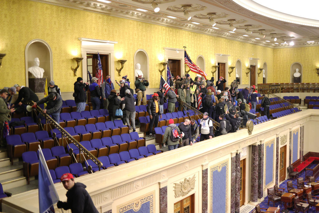 Trump supporters in the Senate Chamber