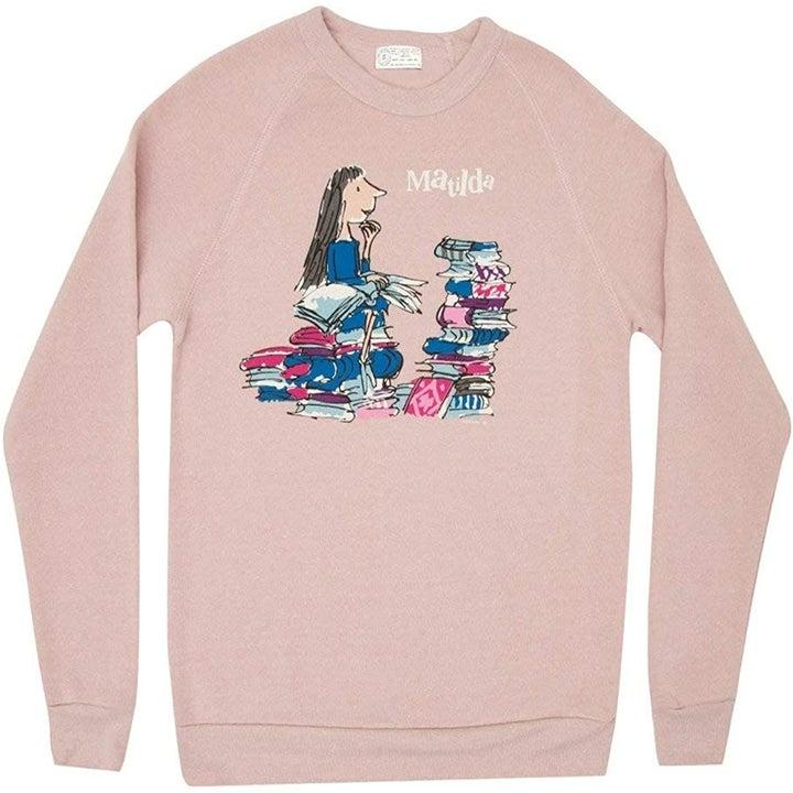 the pink Matilda sweatshirt