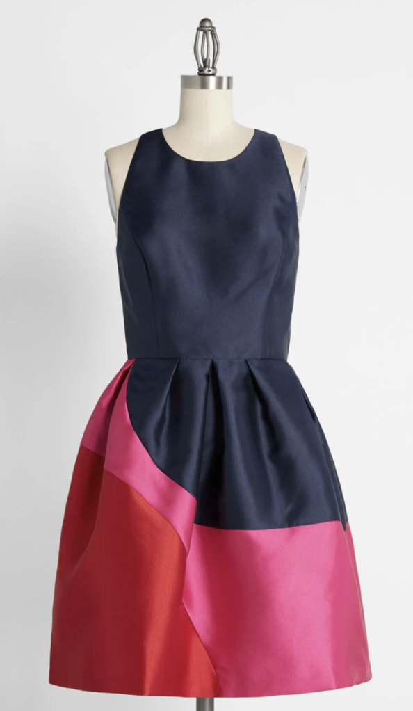 hutch colorblock dress