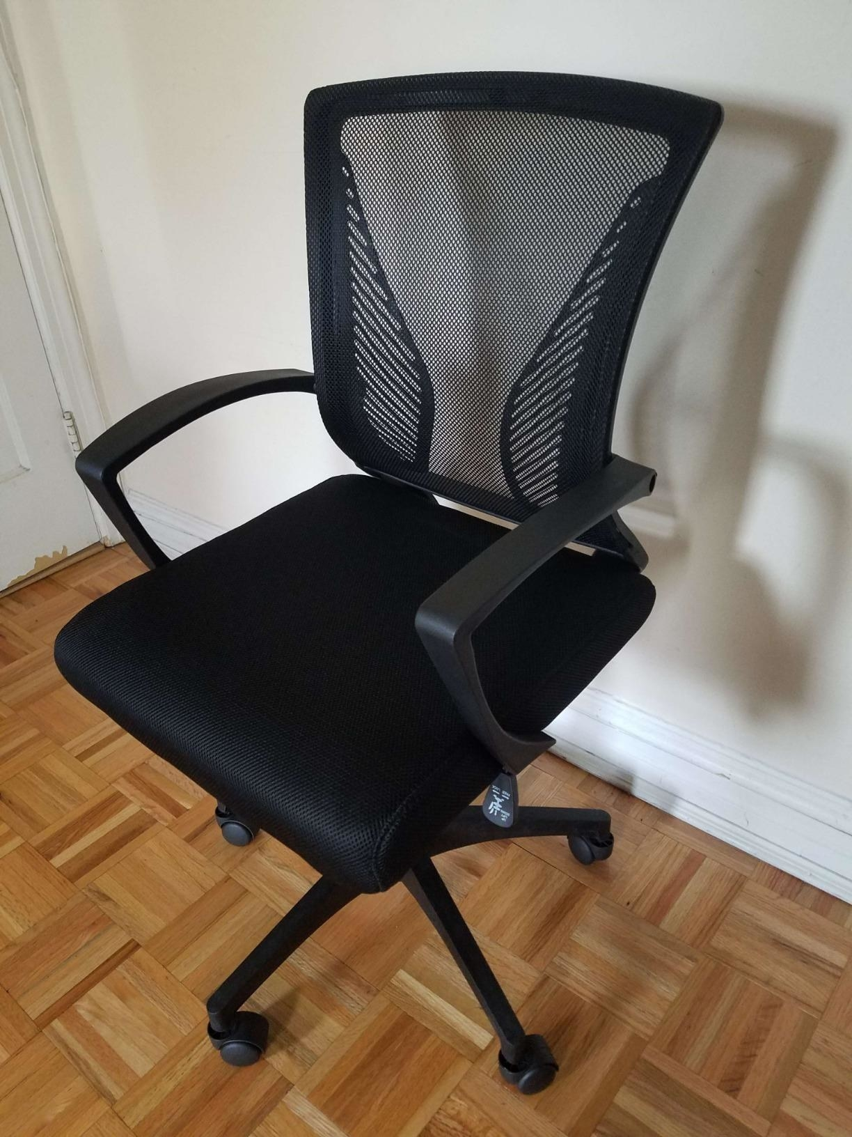 reviewer's task chair in black