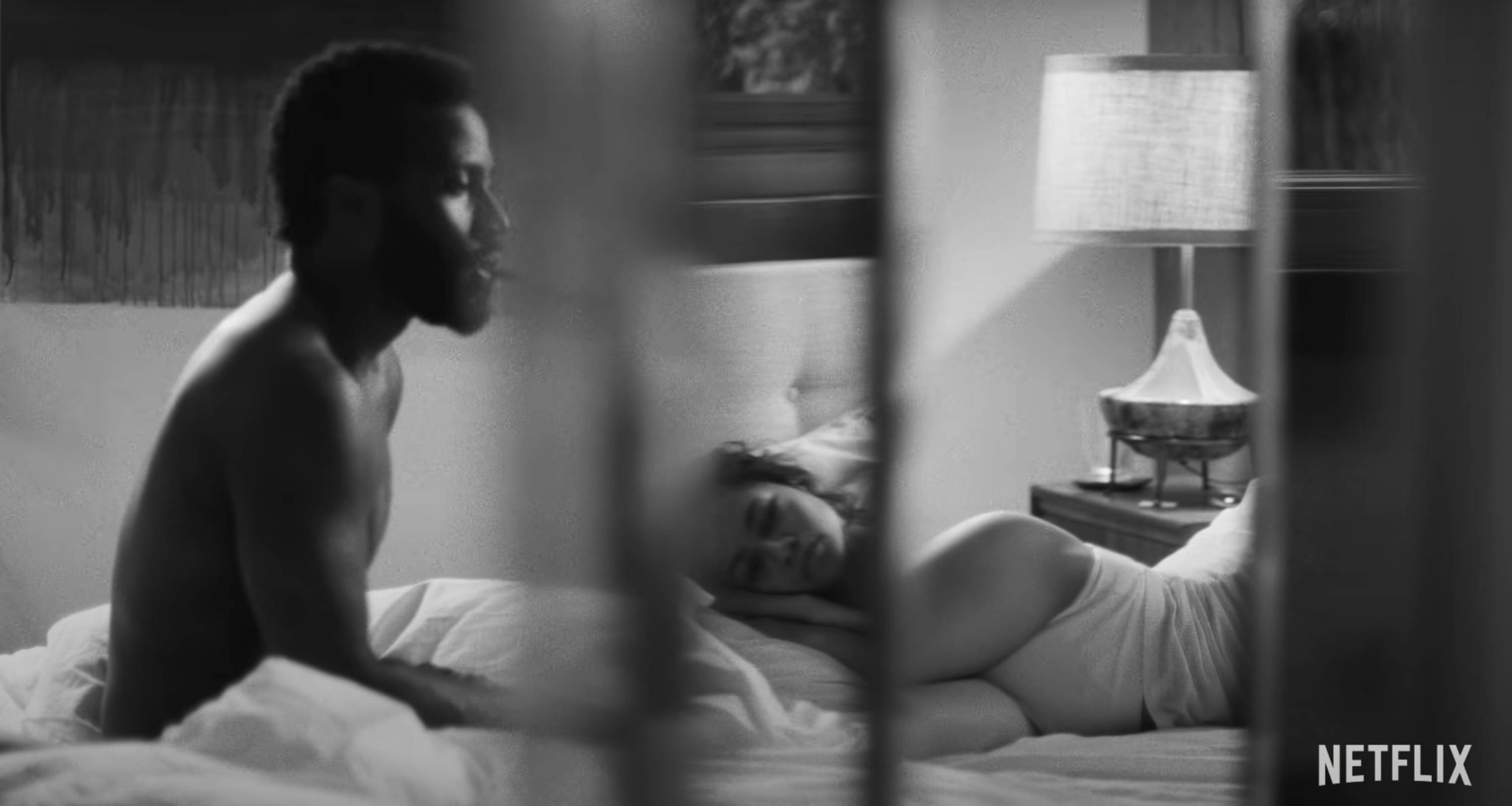 The filmmaker and his girlfriend in a bedroom